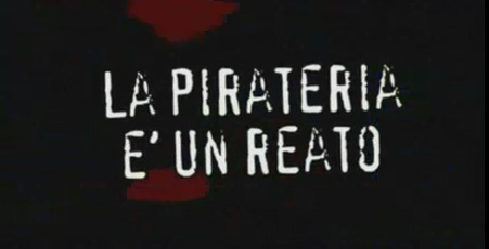 Un'immagine dello spot anti-pirateria