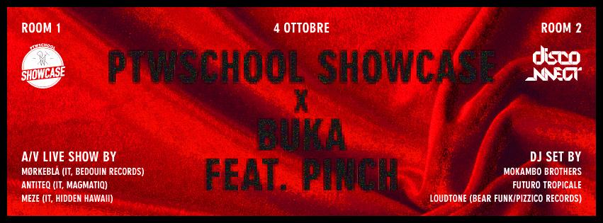 Venerdì 4 ottobre serata elettronica alla Buka organizzata da PTW School