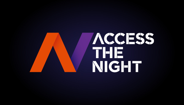 Una schermata dell'app Access the Night