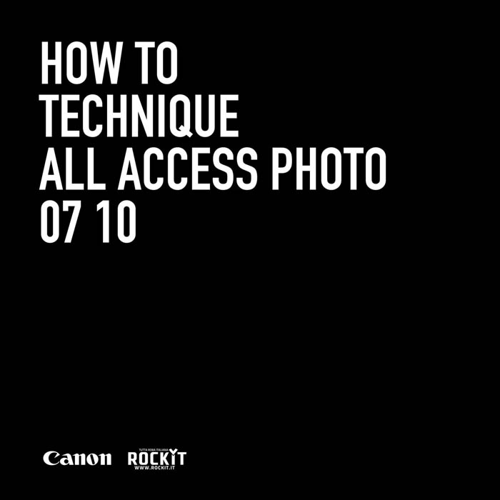 How To: una rubrica a cura di All Access Photo