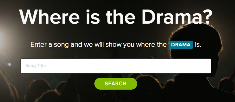Where's the drama?, l'app di Spotify