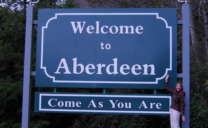 Il cartello di benvenuto di Aberdeen - La casa d'infazia di Kurt Cobain è in vendita
