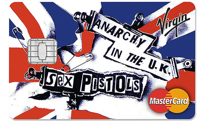 sex pistols carte di credito virgin money