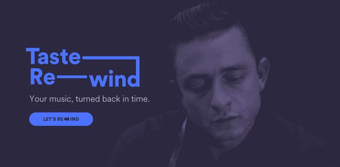 spotify Taste Rewind musica passato consigli