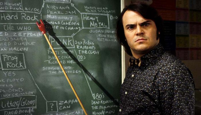 Jack Black in School of Rock - School Of Rock generi musicali