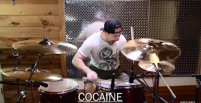 batterista effetto cocaina