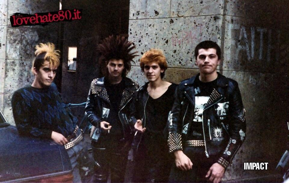 foto via vice.fr - Impact, band punk italiana