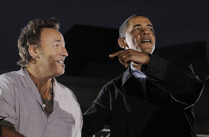 via http://consequenceofsound.net - springsteen obama
