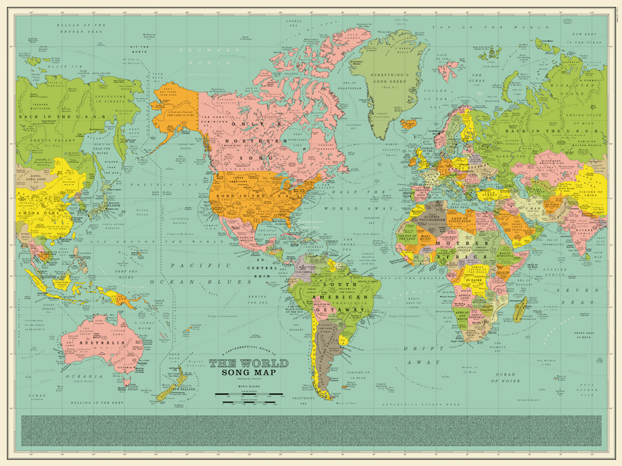 via mymodernmet.com - World Song Map