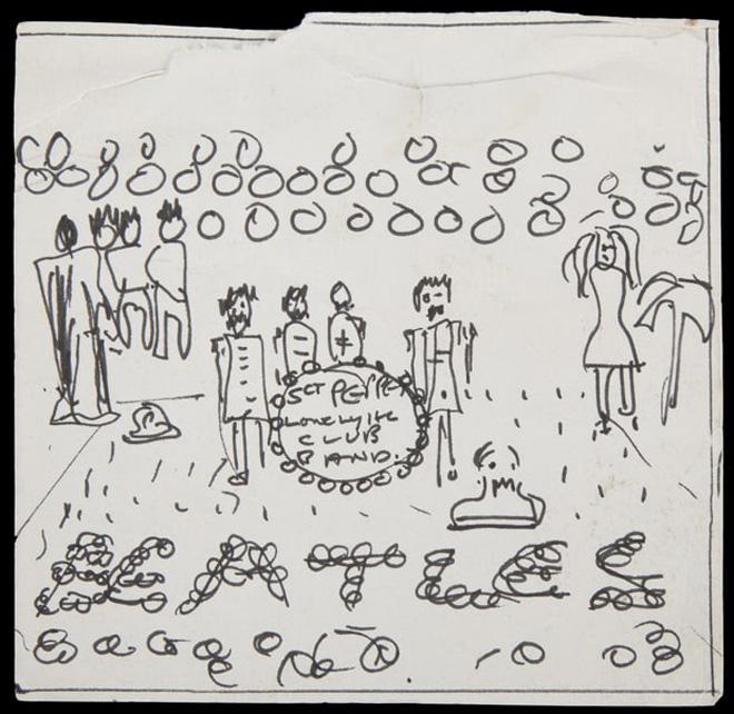via rollingstone.com - John Lennon beatles bozzetto copertina Sgt. Pepper