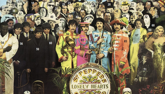 "via Flckr - Beatles ""Sgt. Pepper"" collage Peter Blake anniversario"