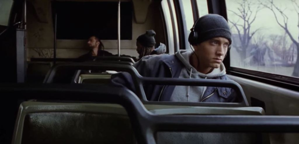 Un'immagine del video di Eminem Lose Yourself