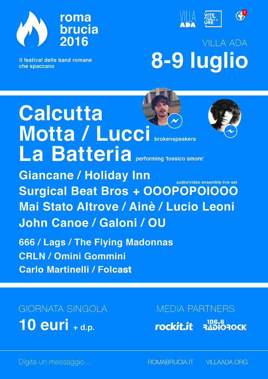 Roma Brucia 2016: la compilation con tutte le band in lineup