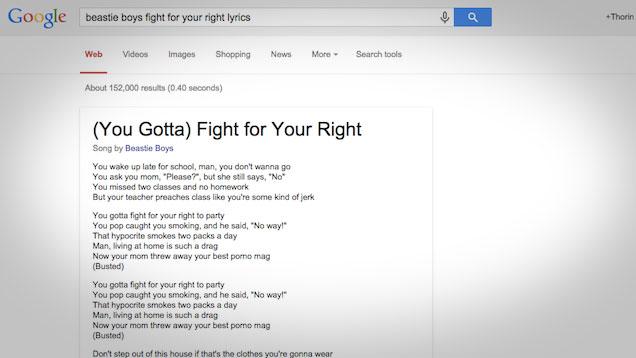 Google visualizzerà i testi delle canzoni direttamente nei risultati ...