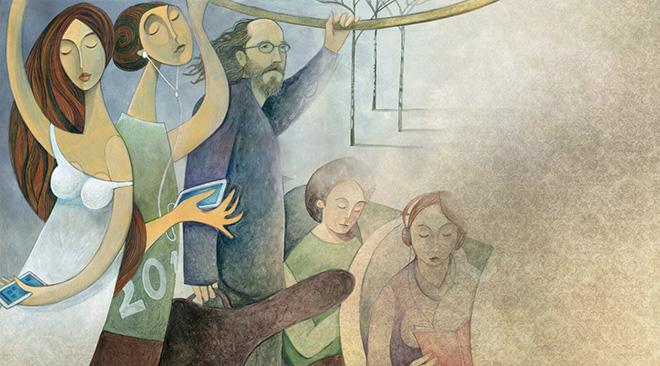 Il Grande Freddo - Illustrazione di Enzo De Giorgi