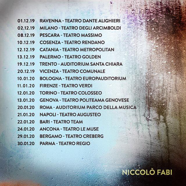 Niccolò Fabi da dicembre in tour