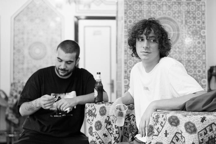 Da sinistra, Ugo Borghetti e Asp 126. Foto via Bomba Dischi