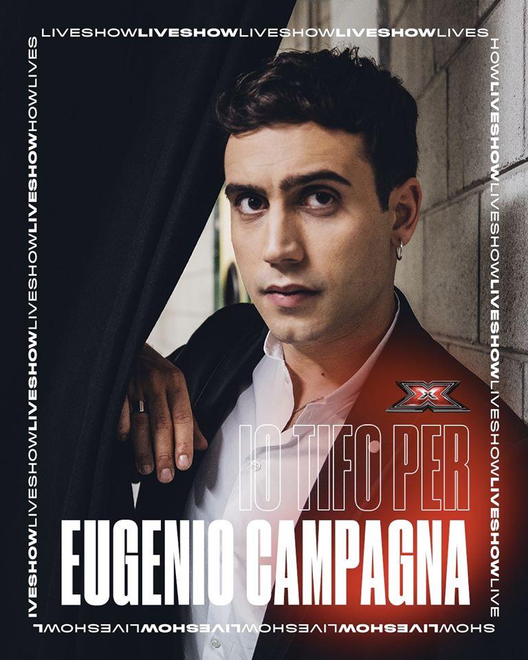 La grafica di X Factor per Eugenio Campagna