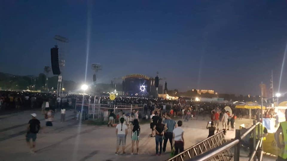 L'area disabili al Firenze Rocks, praticamente fuori dal concerto, foto di Sottoilpalcoancheio