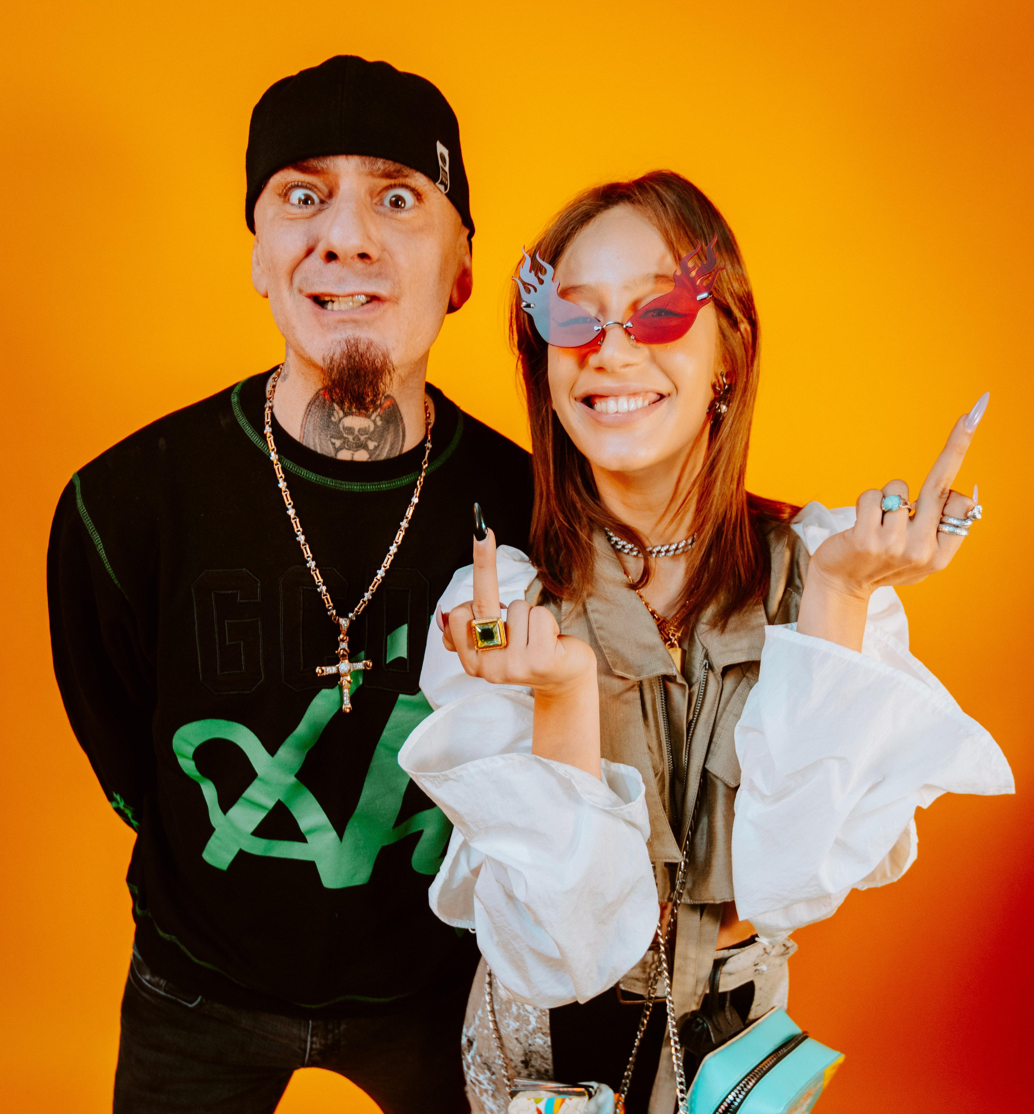 J-Ax e Chadia Rodriguez. Foto di Fabrizio Cestari.