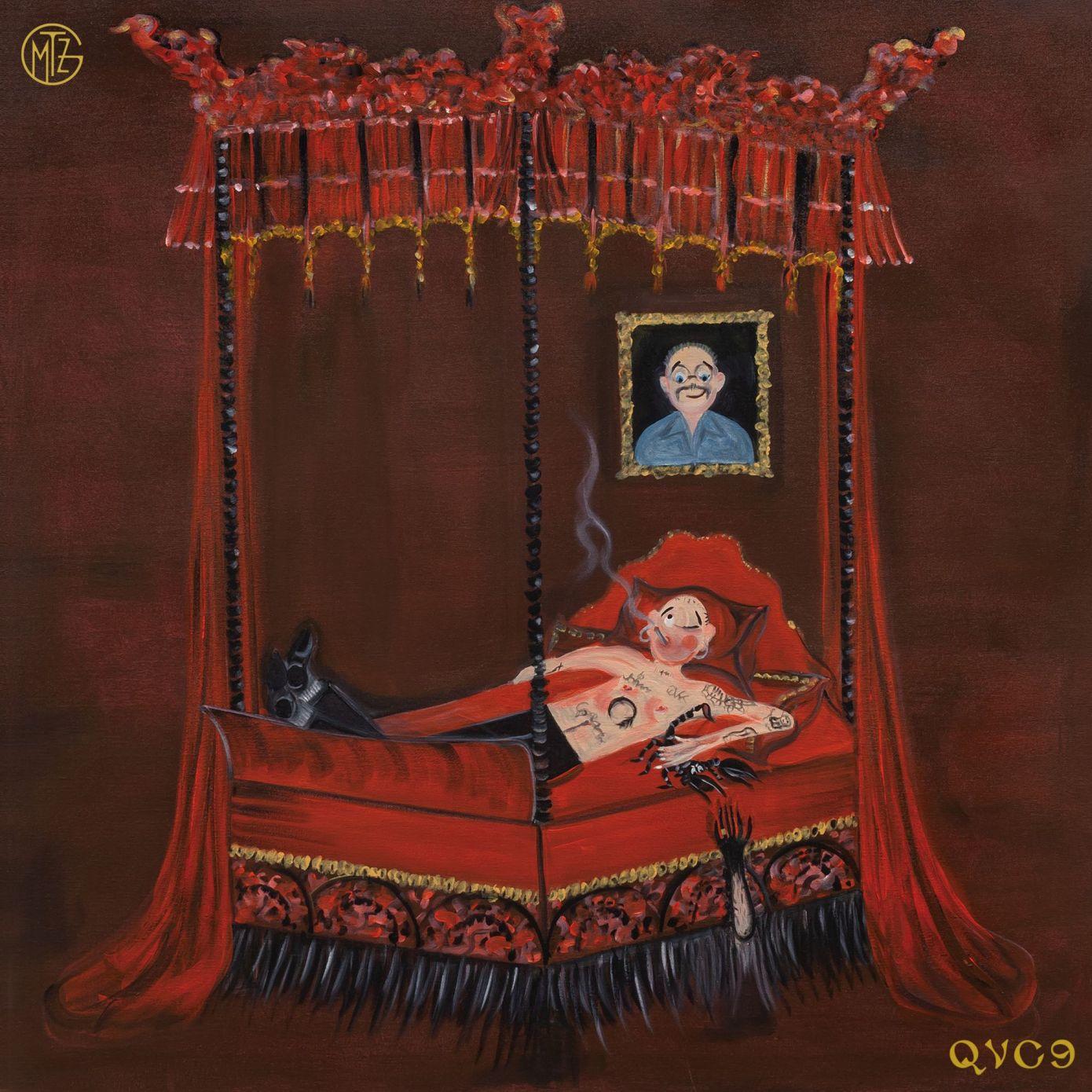 La cover di QVC9 realizzata dalla giovane artista inglese Oh De Laval