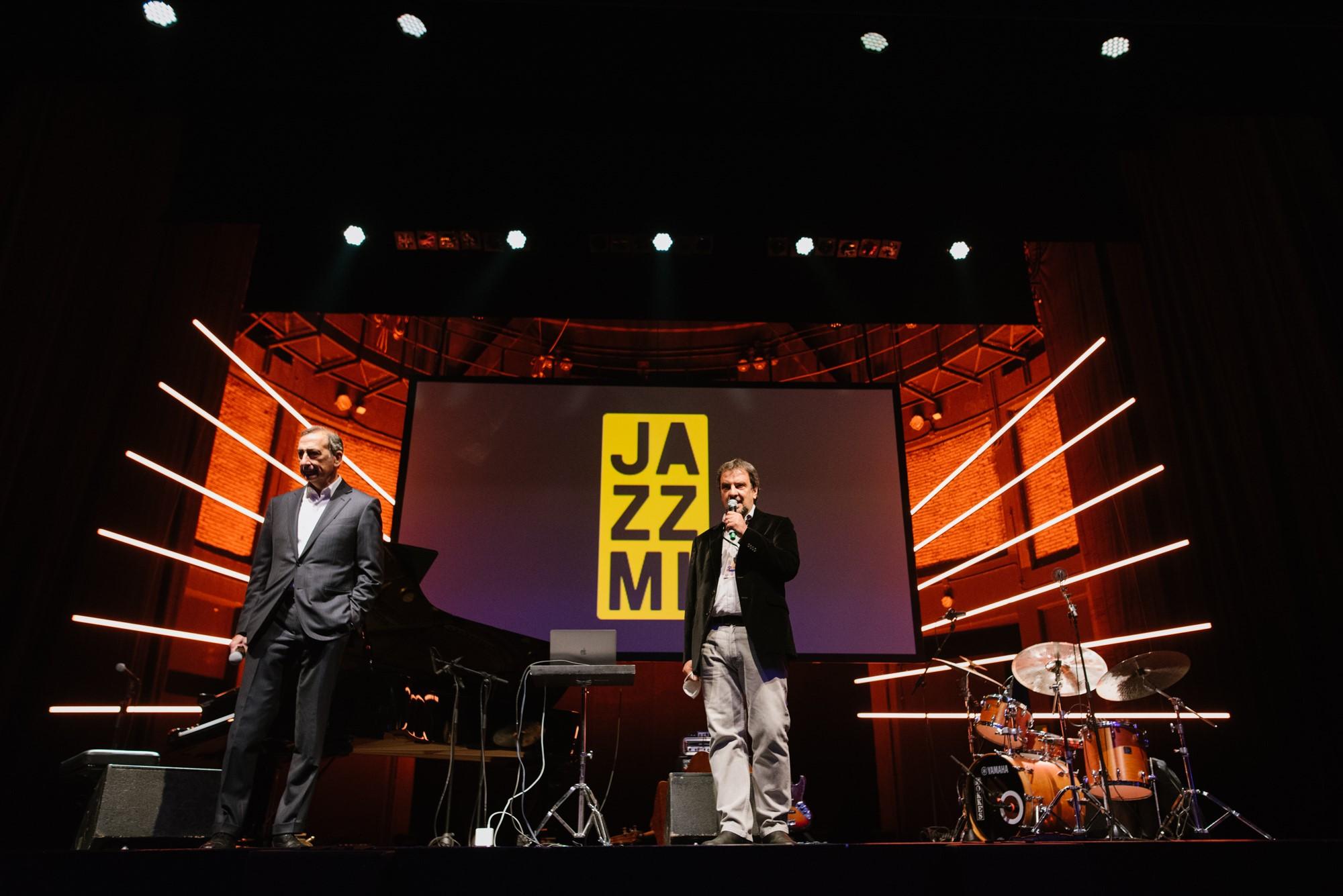 L'inaugurazione di JazzMi con il sindaco di Milano Sala - foto Federica Cicuttini