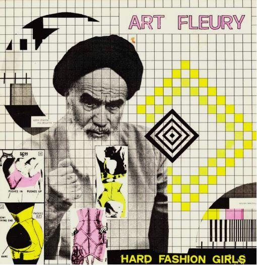 L'Ayatollah Khomeini tra corpi femminili sulla copertina di Hard Fashion Girls di Art Fleury