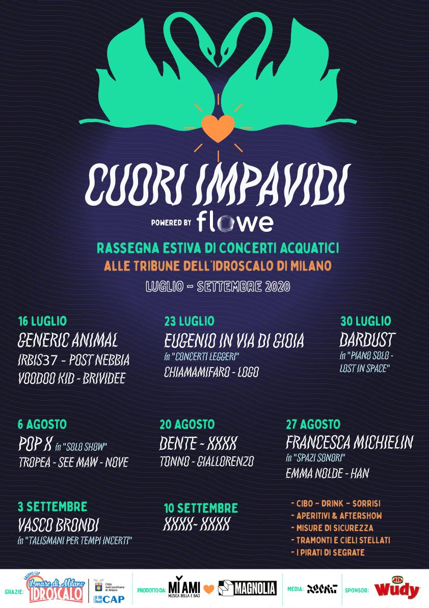 La line-up di CUORI IMPAVIDI