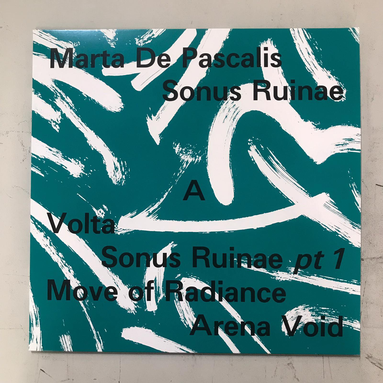 Lato A di Sonus Ruinae. Cover artwork di Lorenzo Mason Studio – Rabih Beaini, della Morphine Records