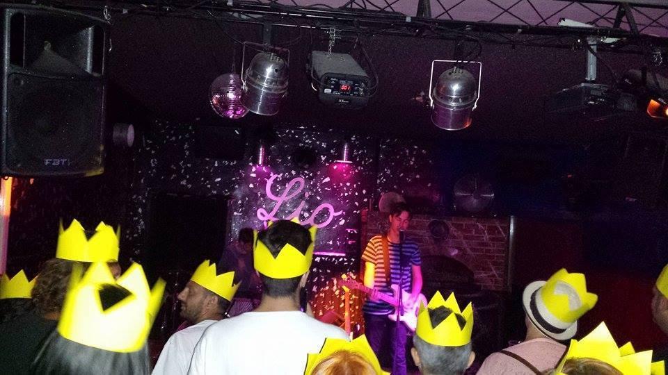 Sul palco del Lio Bar, Brescia
