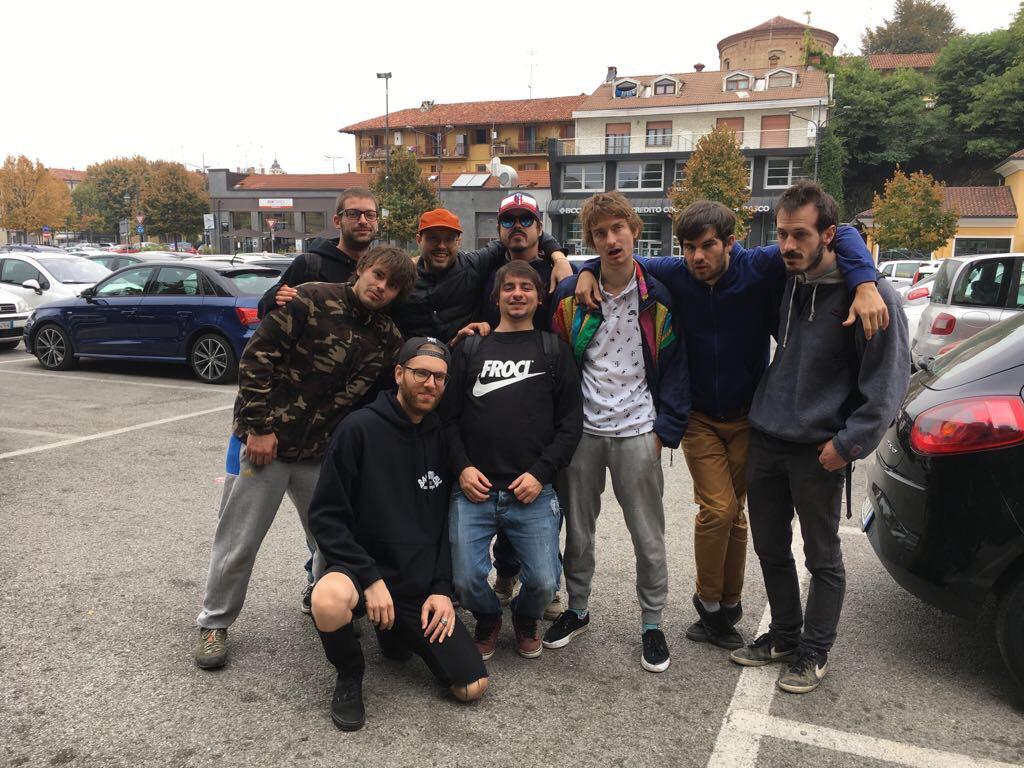 Foto di gruppo con Pop X in tour