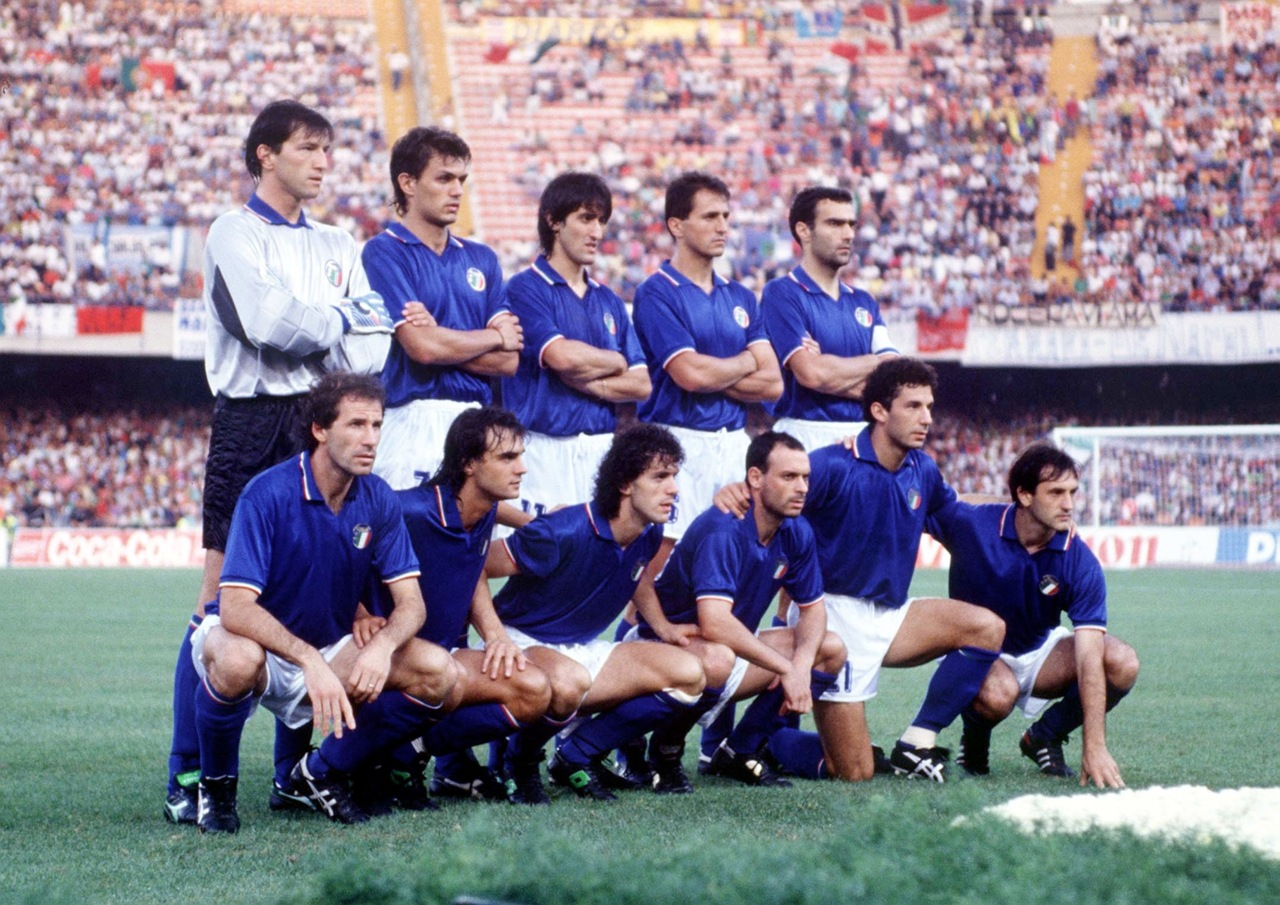 Gli azzurri a Italia '90