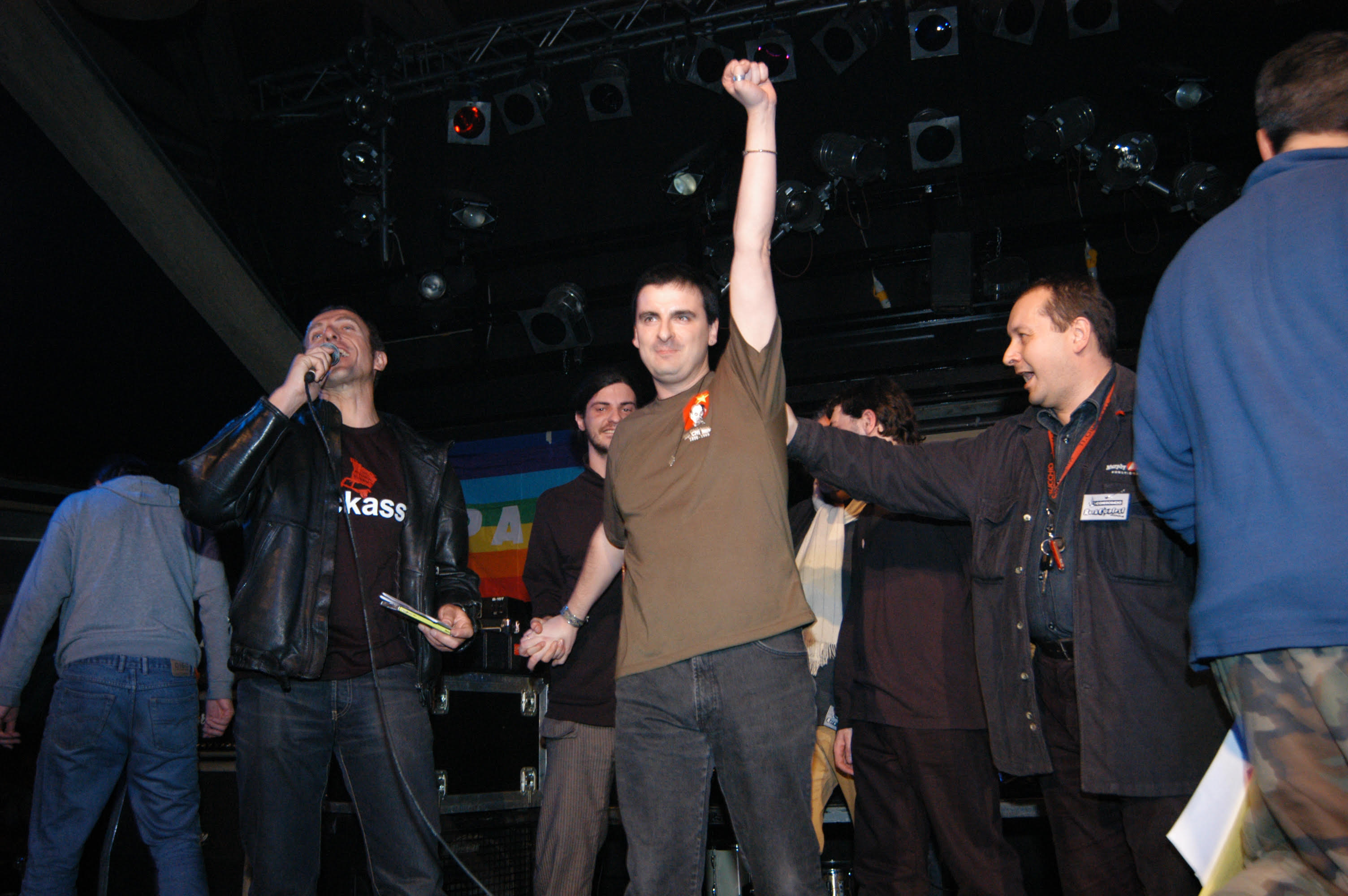 Ortodossia alla premiazione degli Offlaga Disco Pax nel 2004