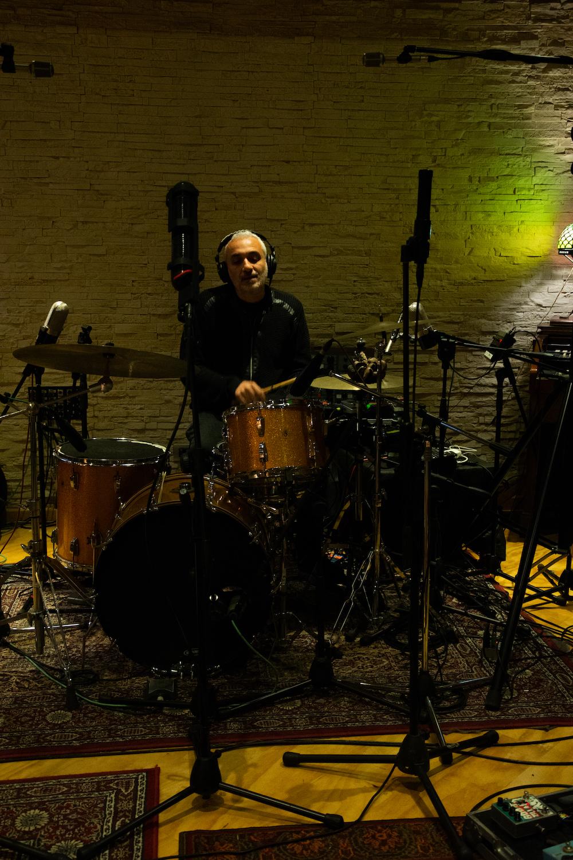 Alla batteria Fabio Rondanini - foto Sabrina Laganà