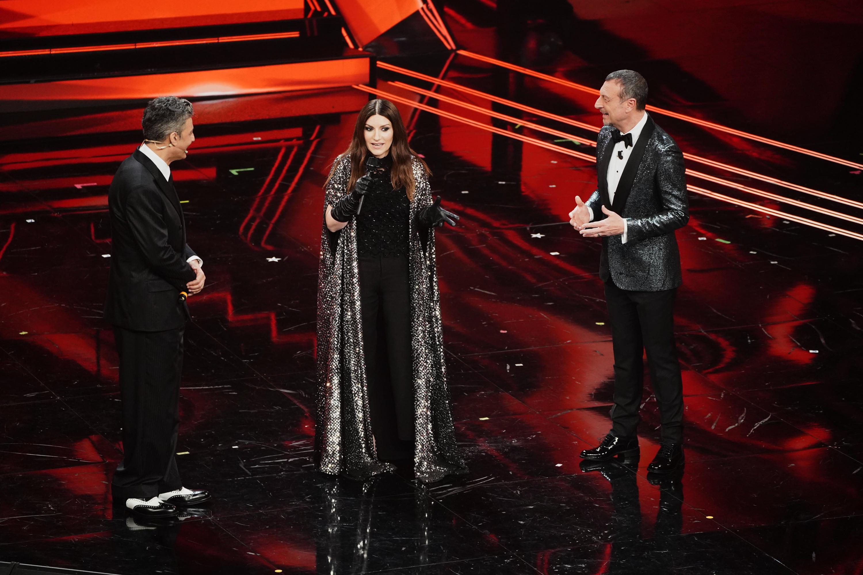 Fiorello, Laura Pausini e Amadeus - foto di Andrea Bracaglia©Kikapress