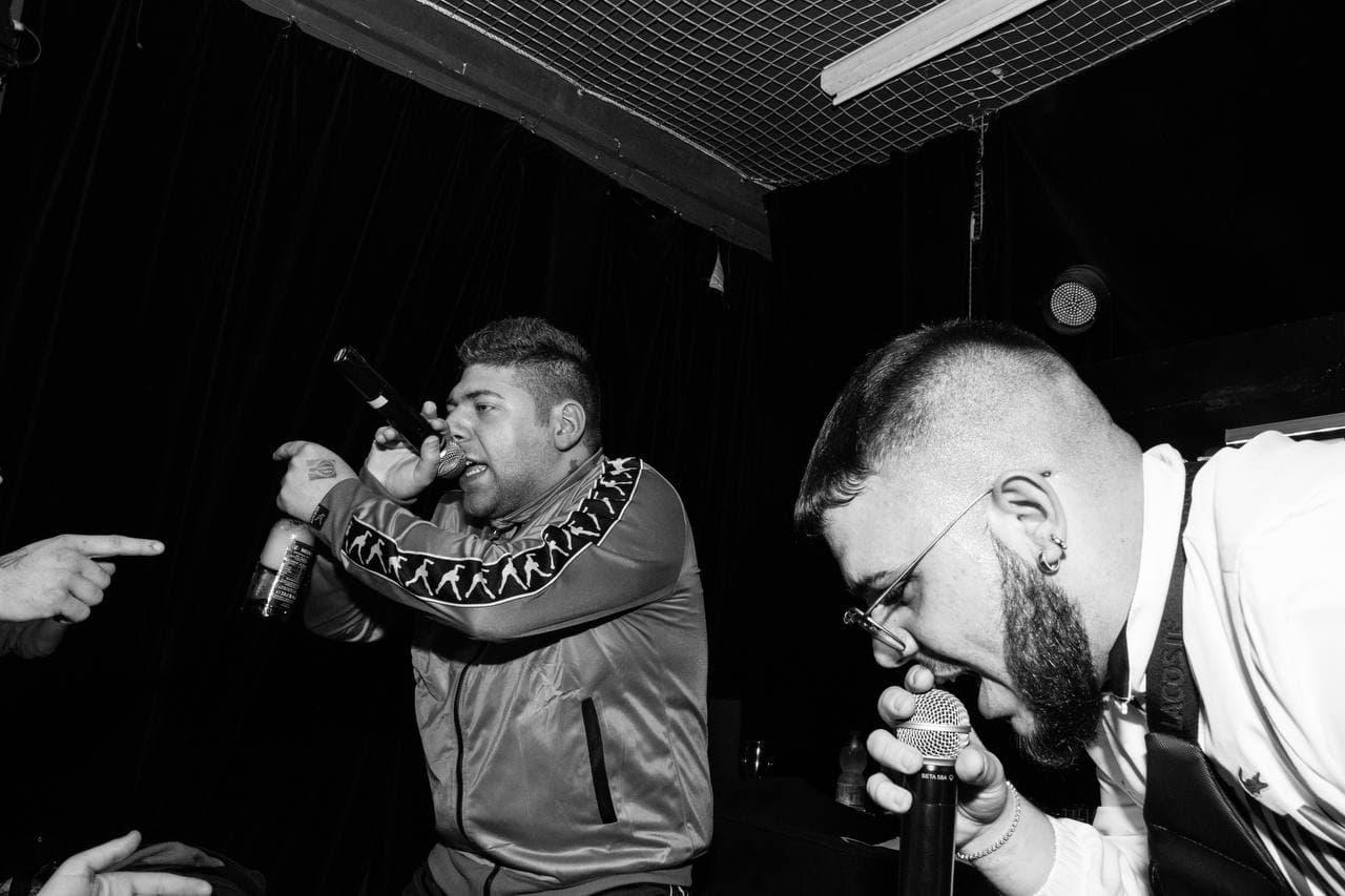 Pablo sul palco con Barracano