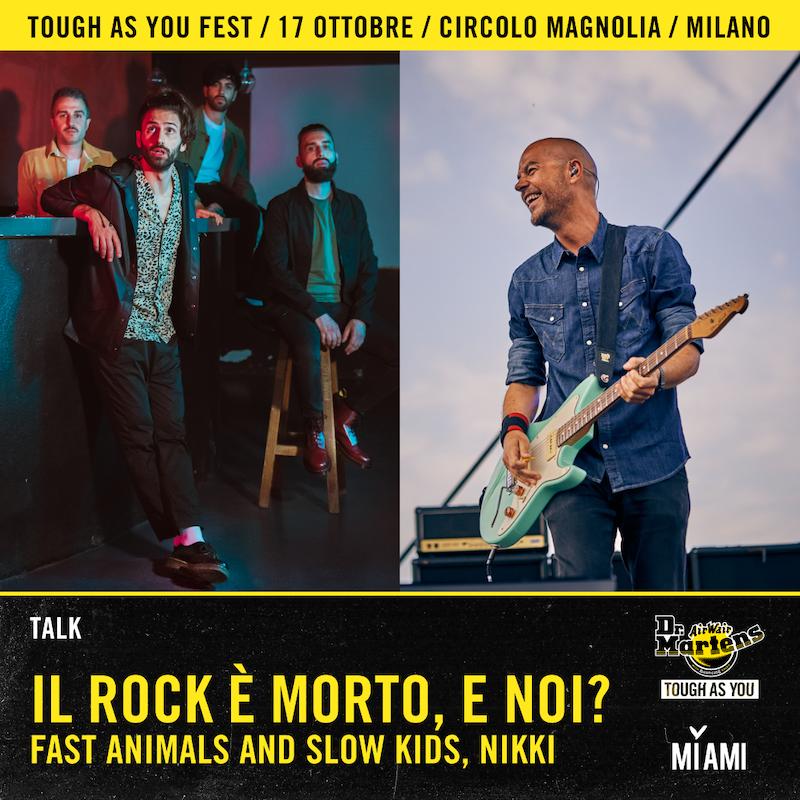 Talk Il Rock è morto, e noi? con FASK e Nikki di Radio Deejay - Elaborazione grafica di Giulia Cortinovis