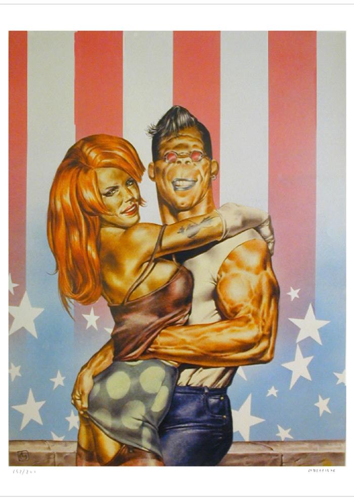 Poster originale di Tamburini/Liberatore RANXEROX 1984
