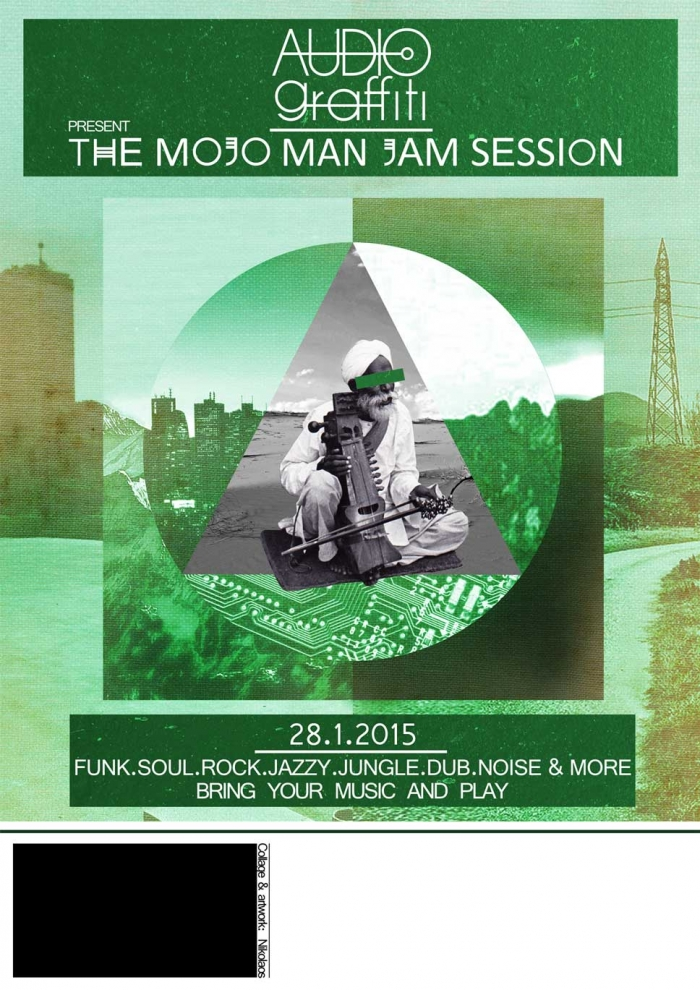AUDIOgraffiti | Mojo Man Jam Flyer