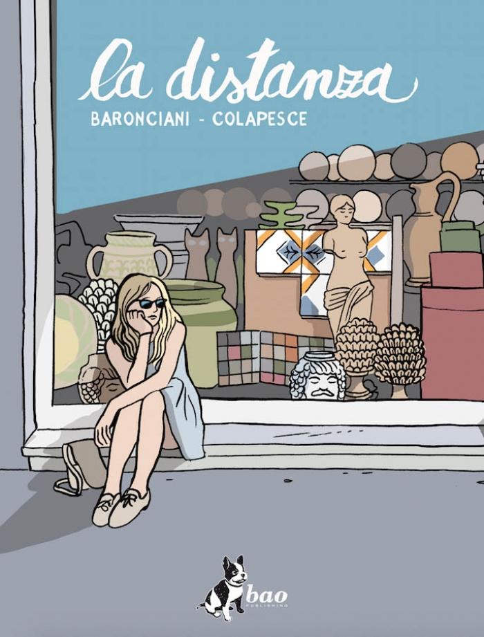 La distanza, la copertina del libro