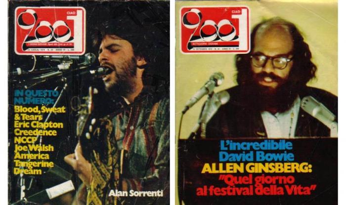 Alan Sorrenti e Allen Ginsberg