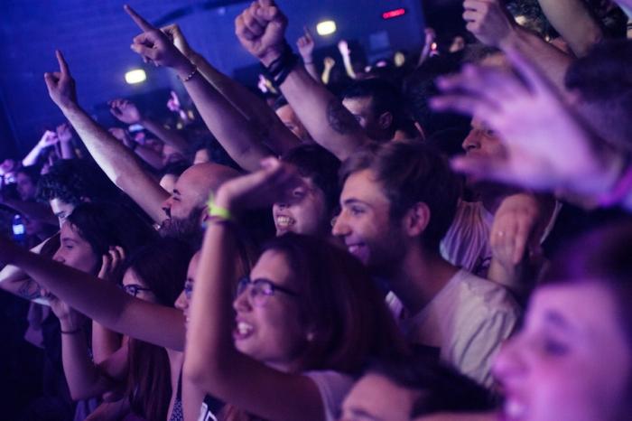 Il pubblico dell'Alcatraz