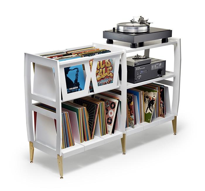 10 mobili per giradischi per rivoluzionare il vostro salotto lp h record stereo console wax - Mobile porta dischi vinile ...