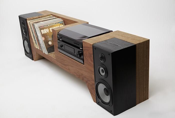 10 mobili per giradischi per rivoluzionare il vostro salotto cardboard record player console - Mobili per vinili ...