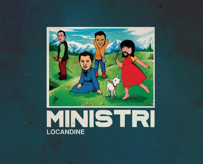 La copertina di Locandine, il nuovo libro de I Ministr