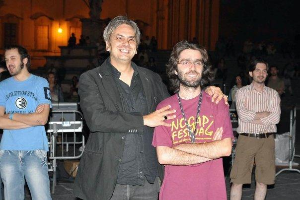 Paolo Benvegnù & his bassplayer Roccia!