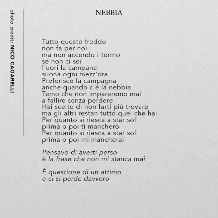 Nebbia (testo)