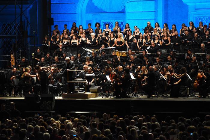 Il Maestro Ennio Morricone in concerto alla Reggia di Caserta