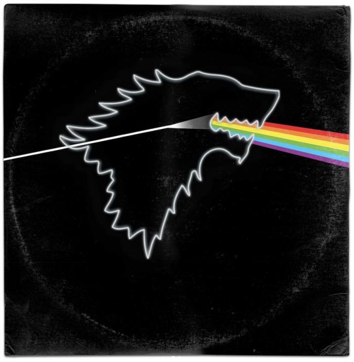 """Il sigillo di casa Stark sulla copertina di """"Dark Side Of The Moon"""" dei Pink Floyd"""