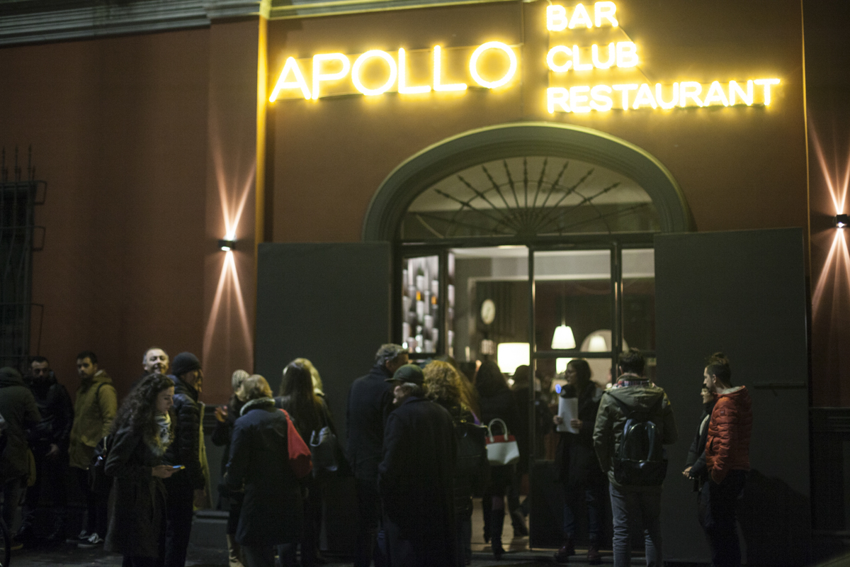 L'ingresso dell'Apollo Club